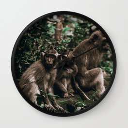 monkey forest ii / indonesia Wall Clock