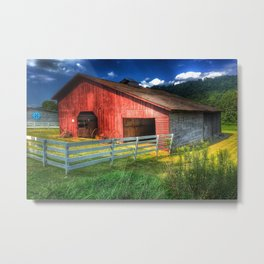 Barn in Valle Crucis, NC Metal Print