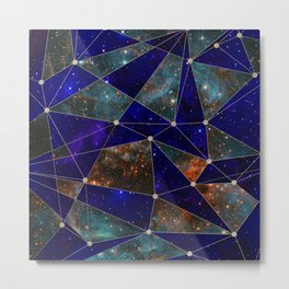 Stars Connections Metal Print