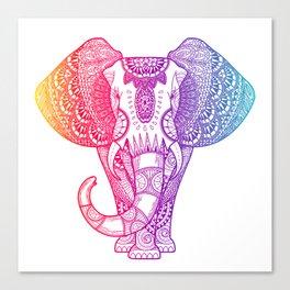 Colorful Rainbow Elephant Canvas Print