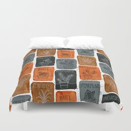 Cooking Herbs Duvet Cover