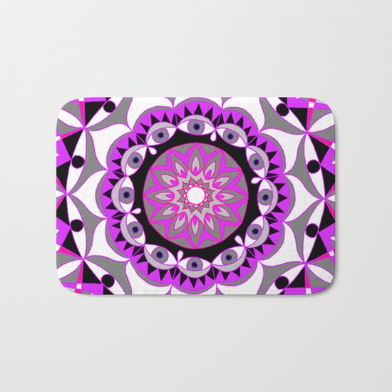 My Love Mandhala | Secret Geometry | Energy Symbols Bath Mat