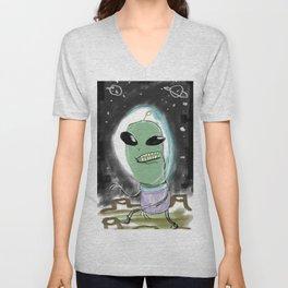 Space Alien Unisex V-Neck