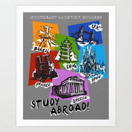 NLC International Education Committee Study Abroad! Art Print