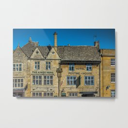 The Kings Arms Tow Square Cotswolds English Countryside  Metal Print