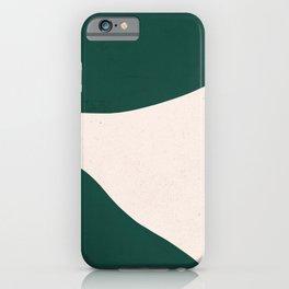 Emerald green abstract art iPhone Case
