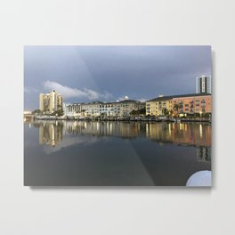 A Beautiful Cloudy Day in Tampa, Florida Metal Print
