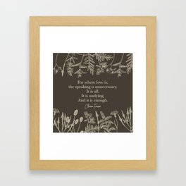 For where love is... Claire Fraser in Sepia Framed Art Print
