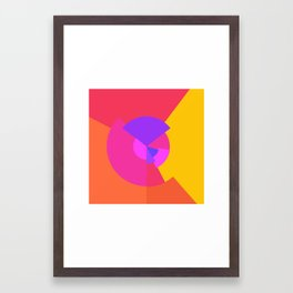 Forms and colours Framed Art Print