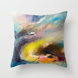 Flying snake Throw Pillow