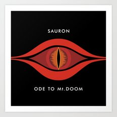 Ode To Mt. Doom Art Print