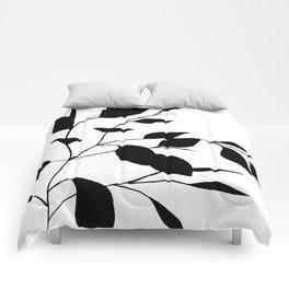 Black Leaves Comforters