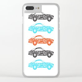 A Fast Sport Car Clear iPhone Case