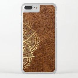 Mandala - Leather Clear iPhone Case