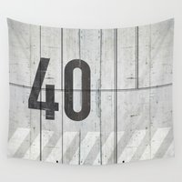 concrete Wall Tapestries featuring background concrete by Tony Vazquez