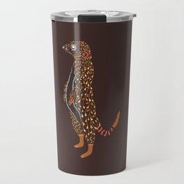 Abstract Meerkat Travel Mug