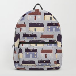 Houses Village Vector Pattern Repeat Seamless Background Backpack