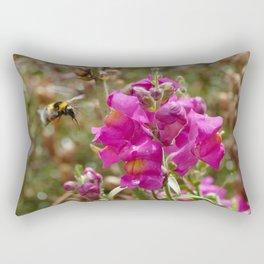 Bumblebee landing on Dragon skull Rectangular Pillow