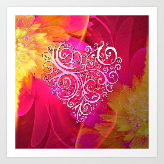 Ever More Heart Art Print