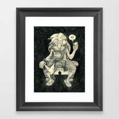 Sitting Heart Framed Art Print