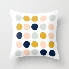 Dot minimal trendy color palette gold silver metallic minimal home decor Throw Pillow