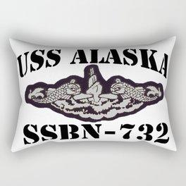 USS ALASKA (SSBN-732) BLACK LETTERS Rectangular Pillow