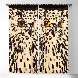 Tierpark Berlin - owl - Vintage zoo poster Blackout Curtain