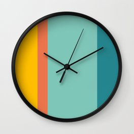 Retro Hot and Cold #retro #colors Wall Clock