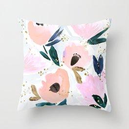 Dreamy Flora Throw Pillow