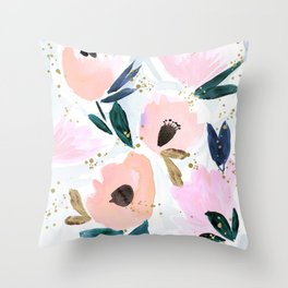 Dreamy Flora Throw Pillow