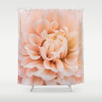 dahlia Shower Curtains featuring Dahlia by Suzanne Brummel