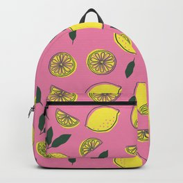 Pink Lemonade Pattern Backpack