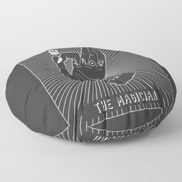 Minimal Tarot Deck The Magician Floor Pillow