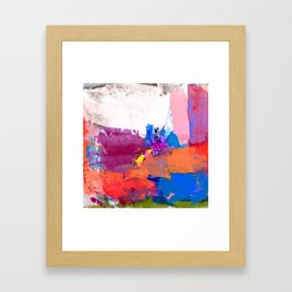 polo abstract red blue Framed Art Print