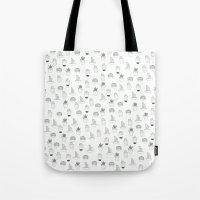 cacti Tote Bags featuring cacti  by Magdalina Dianova