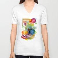 olivia joy V-neck T-shirts featuring Joy by Young Ju