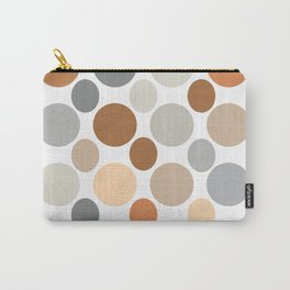 Earth Tone Circlular Abstract Carry-All Pouch