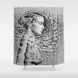 Materials Shower Curtain