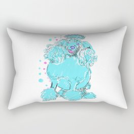 The happy POODLE Love of My Life - your Poo Poo dog keeps you smiling! Rectangular Pillow