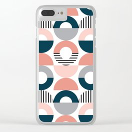 Retro style pattern 5 Clear iPhone Case