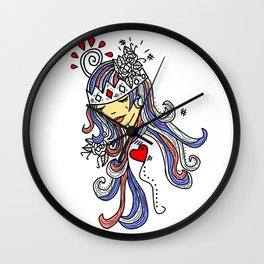 Crown of Pain - An Introduction Blue - Zine Wall Clock