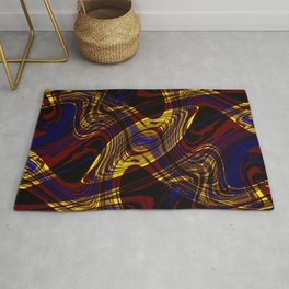 Red, Blue and Yellow Dance Party Rug