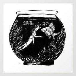 Insomnia diary 2 Art Print