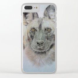 Wild African dog Clear iPhone Case