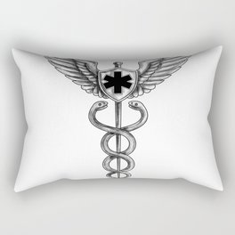 Caduceus Pilot Wings EMT Star Tattoo Rectangular Pillow