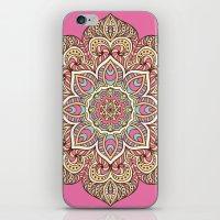 islam iPhone & iPod Skins featuring Pink Mandala by Mantra Mandala