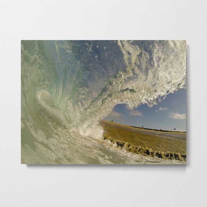 Shorebreak Barrel  6/13/14 Metal Print