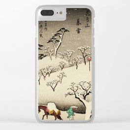 Lingering Snow at Asukayama Japan Clear iPhone Case