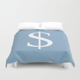 dollar sign on placid blue color background Duvet Cover