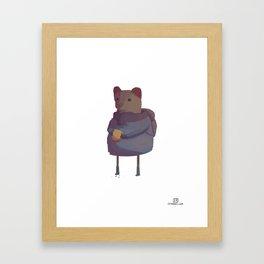 Humanimals - Weasel Framed Art Print